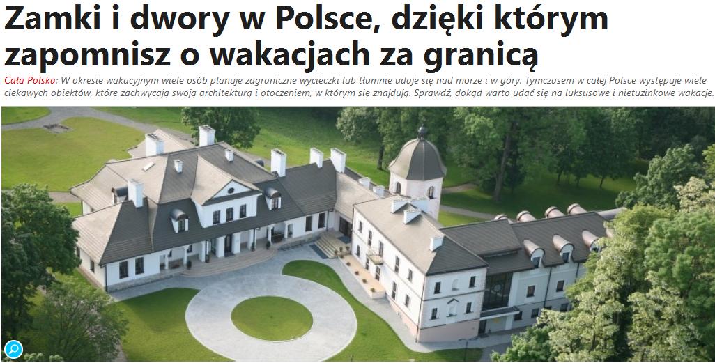 Portal viapoland.com o obiektach Heritage Hotels Poland